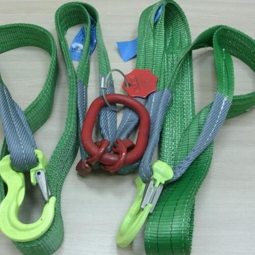 Двухветвевой текстильный строп