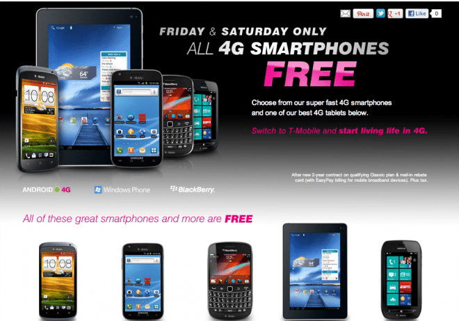 Full Price Breakdown On All T Mobile 4G Devices For