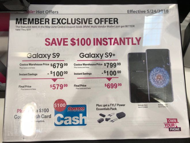 Costco deal knocks $100 off T-Mobile Galaxy S9 and S9 ... on Costco Phone Deals id=15568