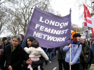 London Feminist Network on the Million Women Rise march 2008