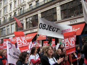 Object on the Million Women Rise March 2009