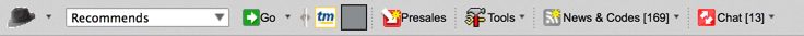 The old presale password toolbar