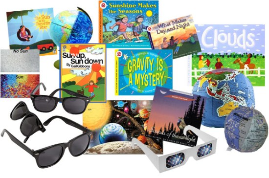 Sample inventory for Kindergarten's Day and Night Sky learning trunk