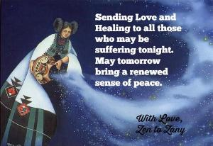 Sending love, peace, and healing to all those who may be suffering tonight. May tomorrow bring a renewed sense of peace. -Zen to Zany
