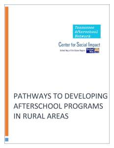 Developing Afterschool Programs in Rural Areas