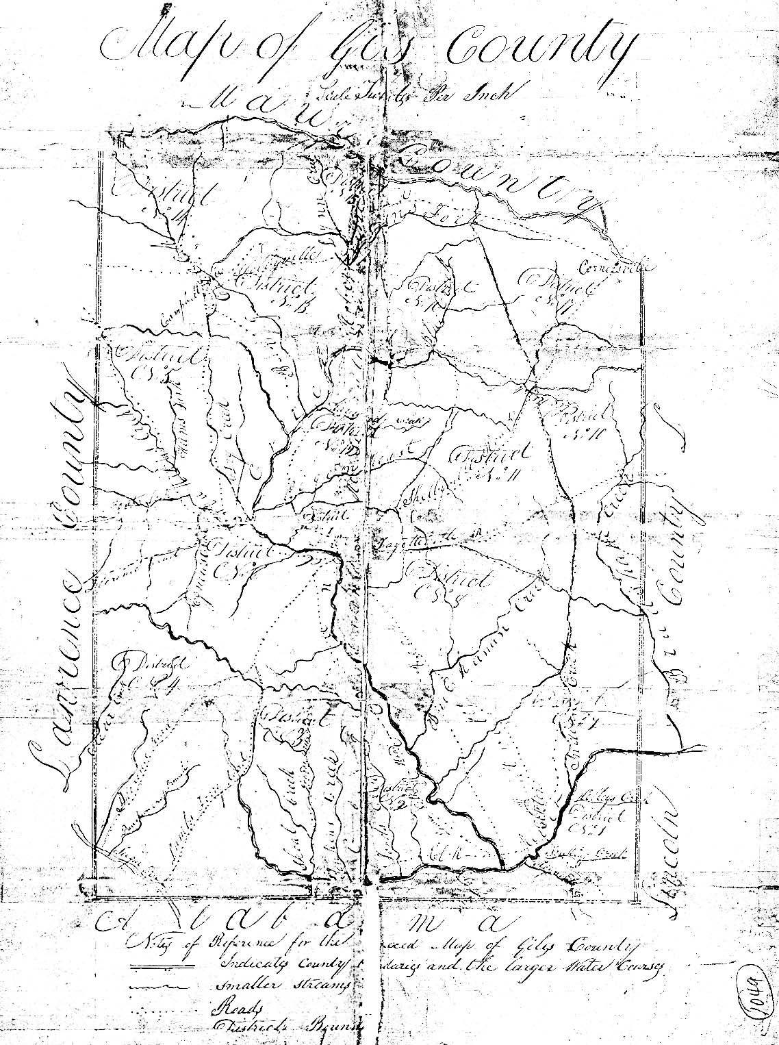 Civil Districts Map And Descriptions Giles County Tennessee Tngenweb Project Tngennet