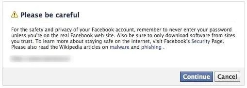 Facebook says be careful