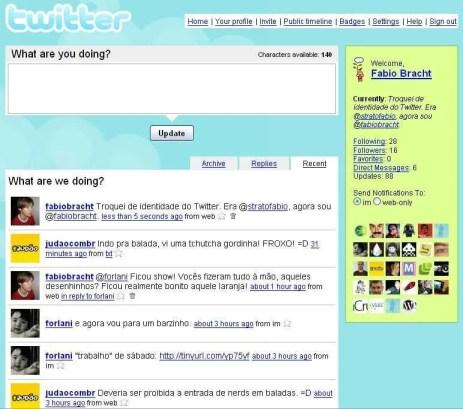 Twitter in 2007