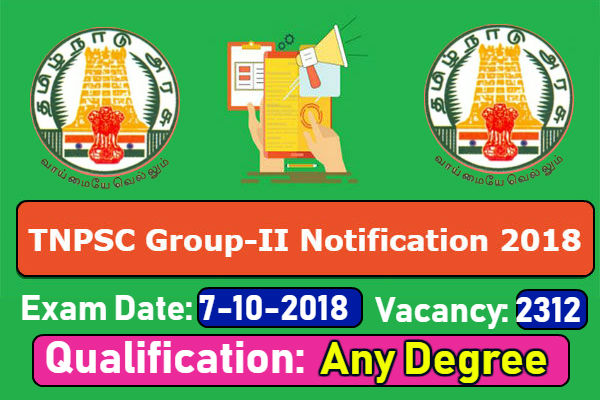 TNPSC Group 2 Notification 2018