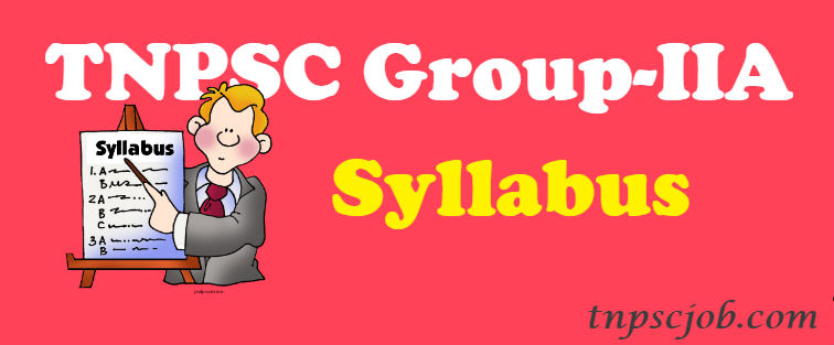 Download TNPSC Group 2A Syllabus in Tamil