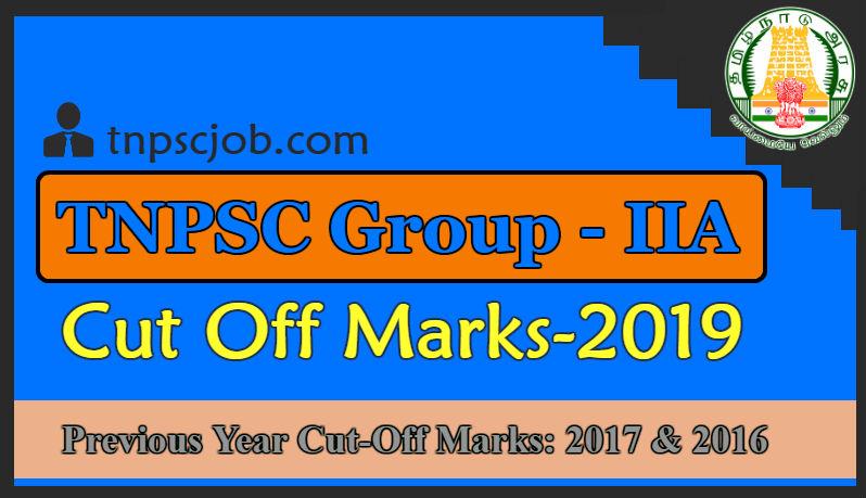 TNPSC Group 2A Cut Off marks 2019 @ www tnpsc gov in | Official CutOff