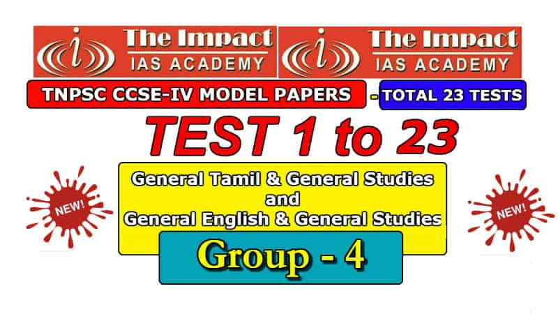 Free TNPSC Group 4 Model Papers by Impact IAS Academy