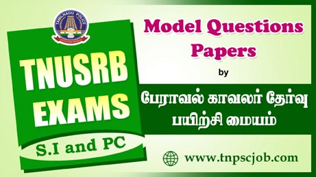 TNUSRB Police Constable Model Papers in Tamil by Peraaval Academy