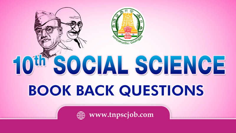 10th Social Science Book Back Questions with Solution
