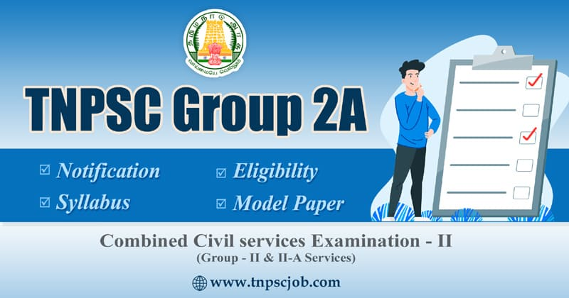 TNPSC Group 2A Notification 2020