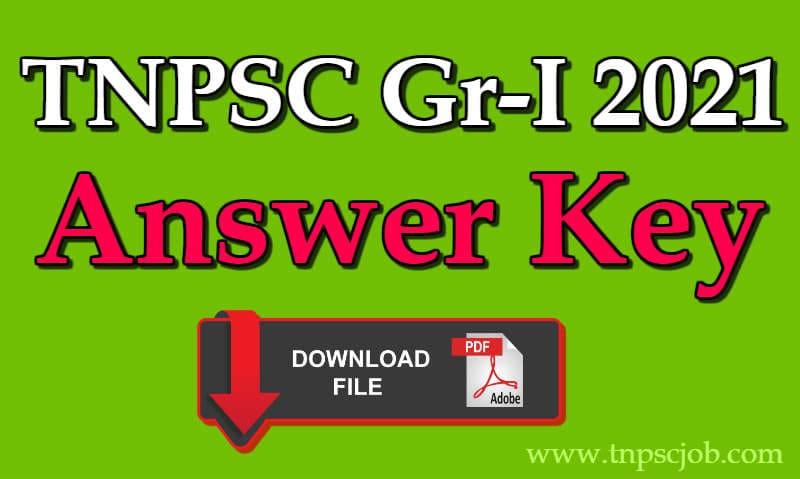 TNPSC Group 1 Preliminary Exam Answer Key 2021