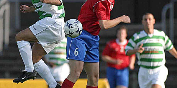 TNS V Osters IF Sweden.    UEFA Cup 1st Leg    Jamie Wood and Christer Thor