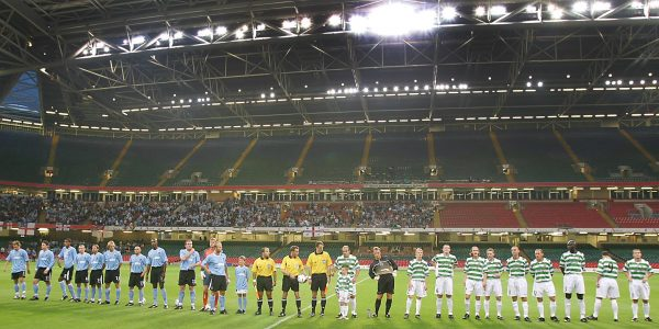 TNS V Manchester City UEFA Cup Qualifying Round 28th August 2003 at Millennium Stadium, Cardiff.
