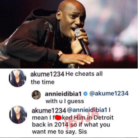 """I F*cked Him"" – Instagram User Shades Annie Idibia Over Tubaba's Infidelity"