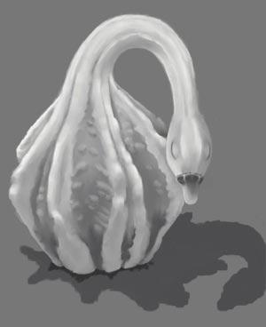 Goose Gourd Drawn Via Computer