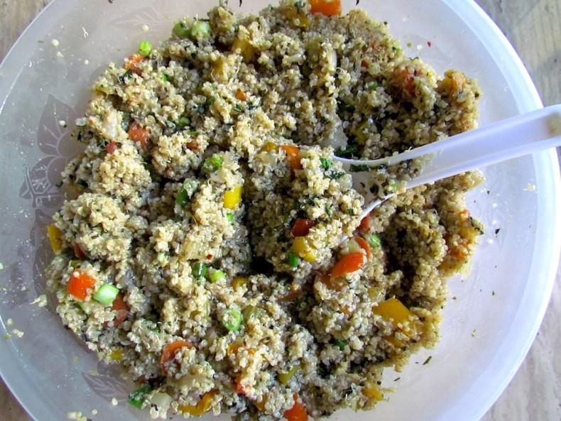 Finished Quinoa and Baked Veggie Dish