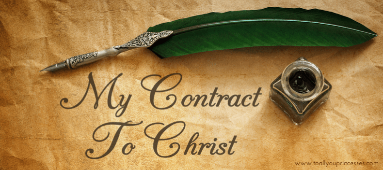 My Contract To Christ