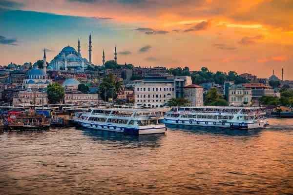 Sunset In Istanbul Art Photography Print