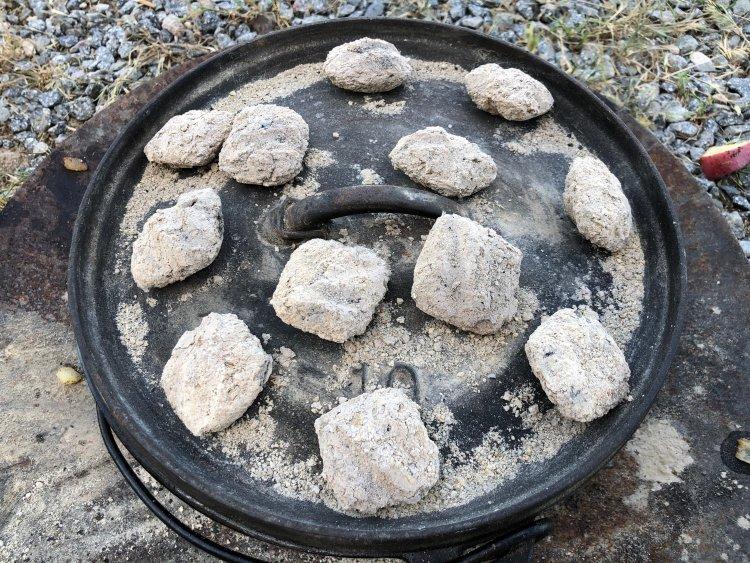Hot coals do the work