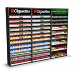 tobacco fixture and cigarette display