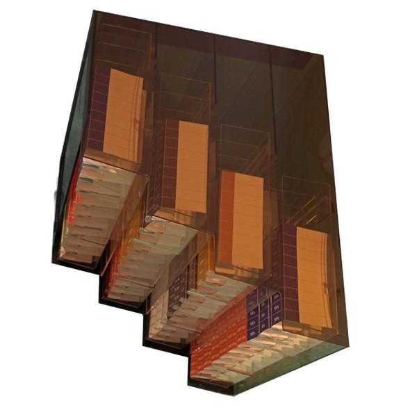 overhead cigarette rack 4 tier drop down 40 column