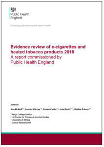 Evidence Review of E-cigarettes and Heated Tobacco Products 2018