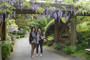 KNuggs and I under a mini bridge at the Golden Gate Park.