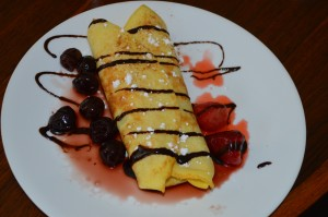 Homemade crepe by the one and only Lou and David!
