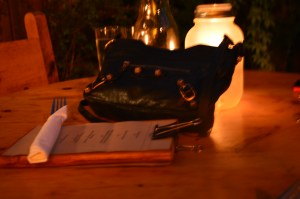 Loved the details of the restaurant. And my beloved Balenciaga made for a nice photo too!
