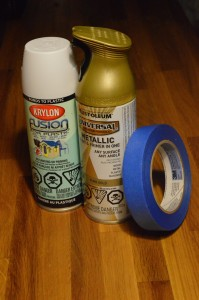 The main supplies that you will need to make the DIY pumpkins shiny!