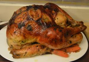 The infamous turkey. Can't have a Holigiving without a turkey!
