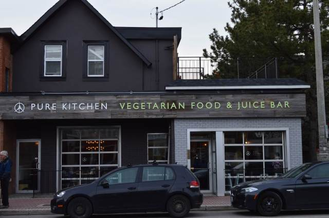 An exterior storefront shot of Pure Kitchen at 357 Richmond Road in Ottawa.