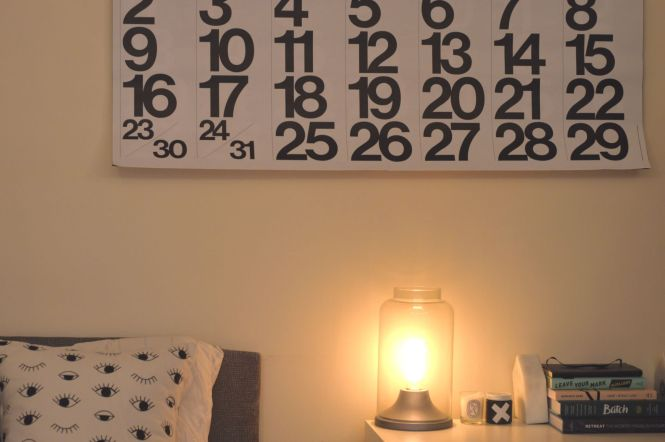Photo of the Stendig Calendar on the wall.