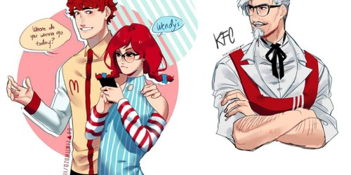 Ozumii Wizard Turns Fast Food Restaurant Mascots into Awesome Anime Characters