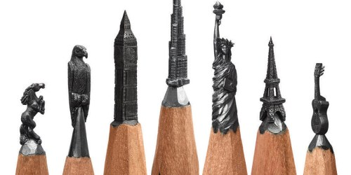 Artist Salavat Fidai Creates Micro Sculptures From Pencils