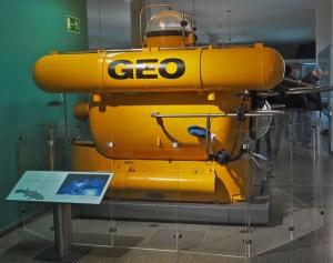 Hans Frickes Tauchboot Geo, Foto aus dem Deutschen Museum, München
