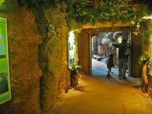 Besuchertunnel ins Rio Negro-Haus