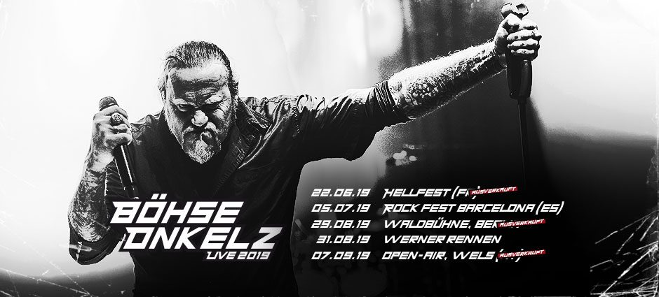 Böhse Onkelz Live Promo Plakat