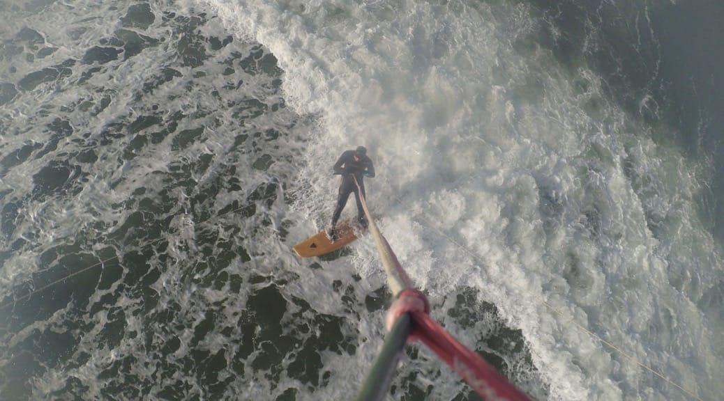 Test des asymmetrischen Surfboards in Heidkate