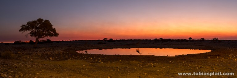 Sunset in Okaukuejo