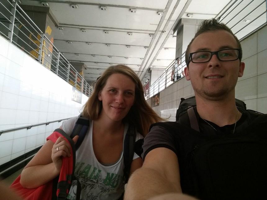 Ankunft am Flughafen