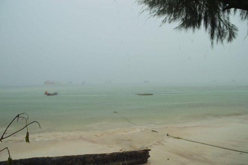 Schlecht Wetter auf Koh Tao