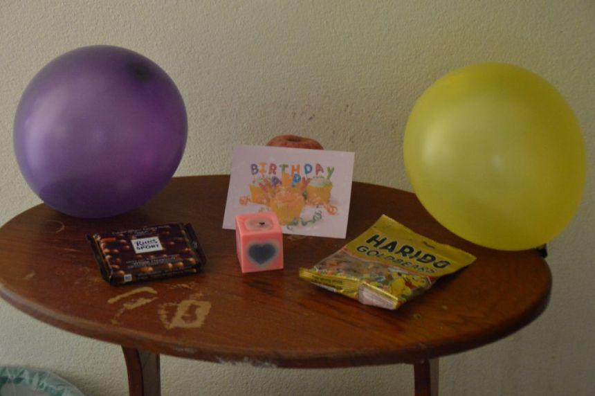 Sandras Geburtstagstisch