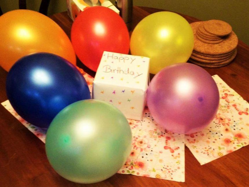 Tobi's Geburtstagstisch