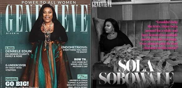 Sola Sobowale covers the latest edition of Genevieve Magazine